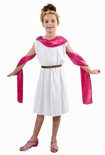 Boy Kostüm Griechische - Mädchen griechisch / römischen Göttin Kostüm Alter 7-9