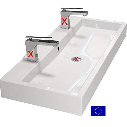 Design Doppelwaschbecken 100cm, Mineralguss