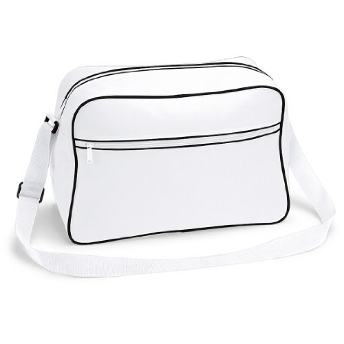 Shirtstown Retro Shoulder Bag, Umhängetasche, Schultertasche, Retro, Tasche whiteblack