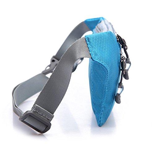 opethome wasserabweisend Nylon Sport Fanny Pack Taille Packungen mit 3Reißverschlüsse Grau