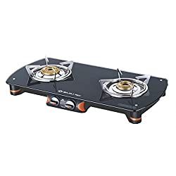 Bajaj Majesty Infinity Stainless Steel 2 Burner Gas Stove, Metallic