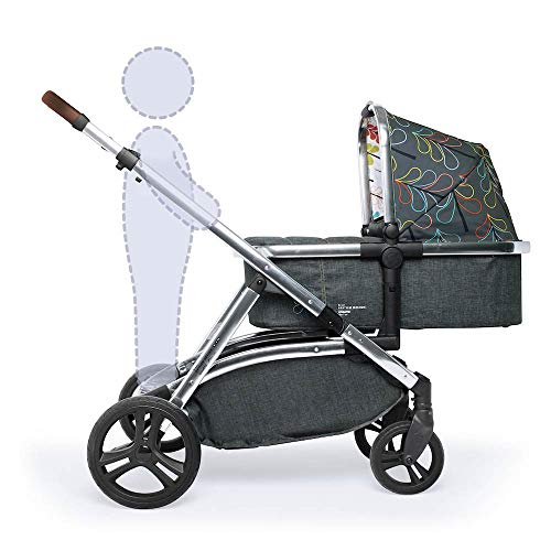 Cosatto Wow XL 3-in-1 Pram and Pushchair, Suitable from Birth - 25 kg, with Tandem Mode and Buggy Board- Nordik  Cosatto