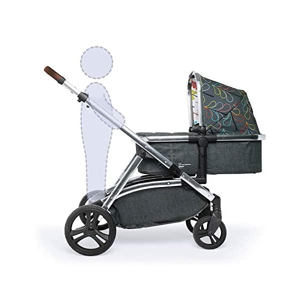 Cosatto Wow XL 3-in-1 Pram and Pushchair, Suitable from Birth - 25 kg, with Tandem Mode and Buggy Board- Nordik Cosatto The flexible family unit, Wow XL has the capability, straight out of the box, to be used as a single child travel system (3-in-1) or as a double/tandem for an older sibling too, with no need to buy any extras (box includes: 1 x Carrycot and 1 x Seat unit) The spacious carrycot is comfy, with extra padded mattress and apron; easy to manoeuvre with one handed pushbutton carrycot release; swap the from-birth carrycot to reversible pushchair seat when they're ready to sit up; the single pushchair mode supports up to 25 kg so your toddler can use it for even longer; with the added ease of one-handed seat unit recline and integrated calf support; the fully extendable hood with visor is 100 UPF and has a peep hole to keep an eye on little ones High-quality craftsmanship; from woven textured fabrics and discoverable details, to gleaming chrome chassis from significant leatherette handle to exquisite embroideries and felt appliques; each design comes with two cuddly travelling companions, straight from Cosatto's famous storytelling pattern; when you explore together, anything can happen 7