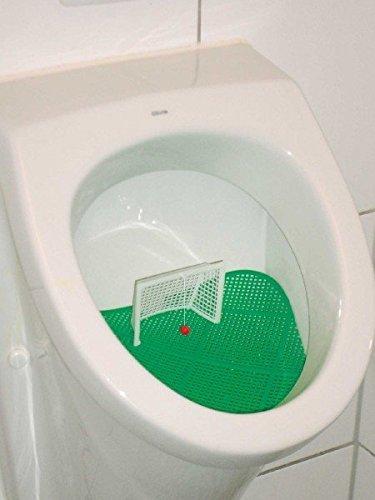 Juego de fútbol para urinario con campo, portería y pelota