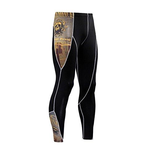 Herren Kompressions Hosen Baselayer Warm Cool Dry Sport Strumpfhosen Lauf Yoga Fußball Leggings von Hankyky (Strumpfhosen Spandex Klettern)