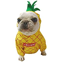 Ropa para Mascotas,Dragon868 Linda Ropa torneada Forma de piña Mascota Perro suéter Camisetas