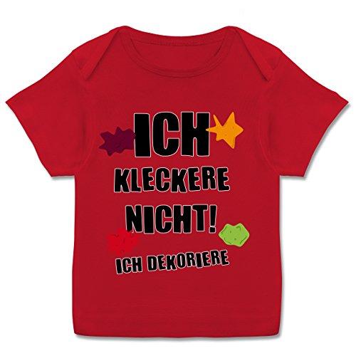 Sprüche Baby - Ich Kleckere Nicht! - 68-74 (9 Monate) - Rot - E110B - Kurzarm Baby-Shirt für Jungen und Mädchen in Verschiedenen Farben