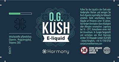Harmony Premium CBD Liquid mit 300mg CBD - OG Kush Geschmack (nikotinfrei) von Meet Harmony