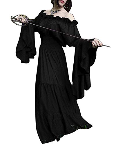 Liangzhu Damen Mittelalter Renaissance Königin Vintage Kleid Elegant -