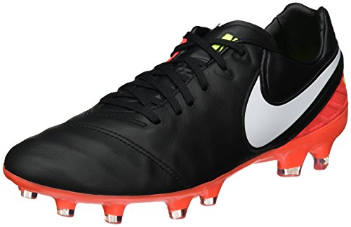 Nike 819218-018, Chaussures de Football Homme Noir (Black/white-hyper Orange-volt)