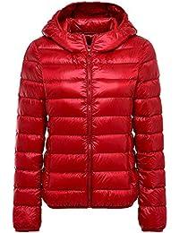 size 40 31651 e2488 piumino leggero donna - Rosso / Donna ... - Amazon.it