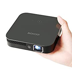iOCHOW iO4 Mini Beamer, 1080P HD Video mit DLP 3000 Lumen, Kontrastverhältnis 10000: 1, 30.000 Stunden Led Life, Led Beamer