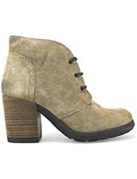 scarpe donna KEYS 40 stivaletti bordeaux pelle AE595-B