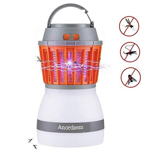 WYMI 2 in 1 Campinglampe Mückenkiller,USB Wiederaufladbar Moskito Mörder Lampe IP67 Wasserdichter Anti-Moskito LED Latern Tragbare Zeltlampe für Innen- und Außeneinsatz Elektrisch Mückenfalle