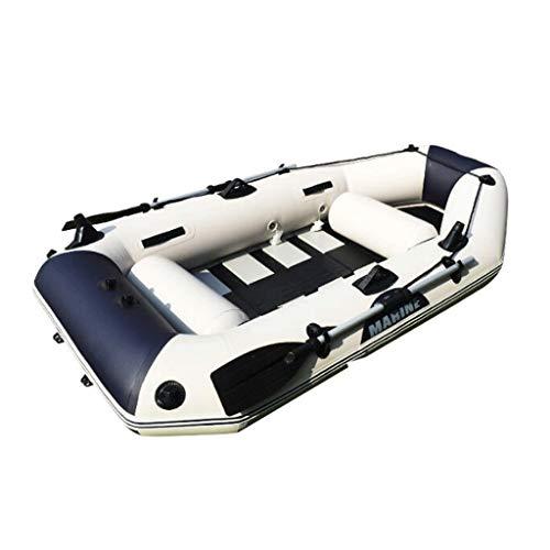 Espesar Lancha Inflable Kayak aerodeslizador para 3 Personas Bomba + Paleta (Color...