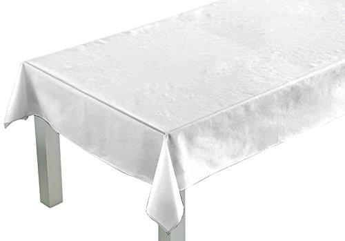 Comptoir du Linge csi05005Tischdecke rechteckig Stoff/Polyester/Baumwolle/Teflon 250x 150x 0,5cm, weiß, 150 x 250 cm
