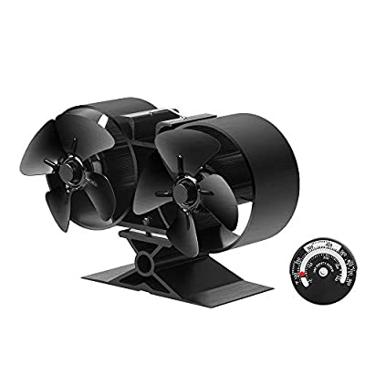 Stove Fan for Wood Fireplace,Heat Powered Stove,Log Burner, and Insert Stove, Ultra Silent Auto Operation, Fuel Saving, Eco Friendly,Strong Air Volume[A++++]