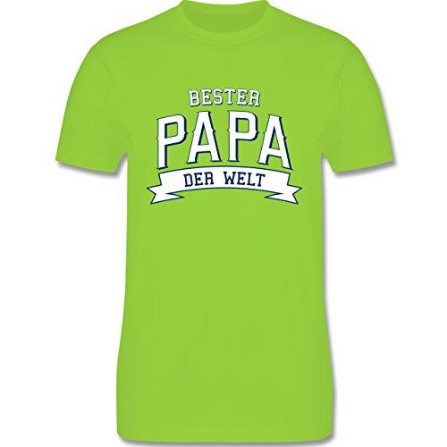 Vatertag - Bester Papa der Welt - Herren Premium T-Shirt Hellgrün
