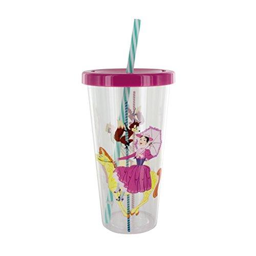 Spielzeug Box Mary Poppins Tasse und Stroh, Multi, 9x 9x 18cm -