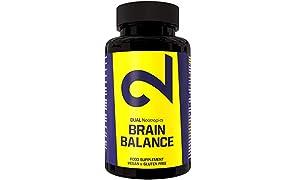 DUAL Brain Balance| 100% natürliches Nootropisches Supplement | Koffeinfrei | Ashwagandha-Extrakt| Vegan | Labor zertifiziert | 60 Kapseln | In Europa hergestellt