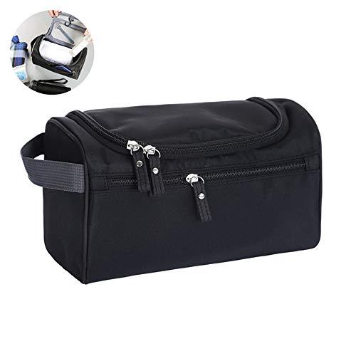 Hängend Kulturtaschen, leegoal Wasserdicht Kulturtasche mit Haken, Reise-Zubehör für Pflegeprodukte/Rasur und Makeup-Aufbewahrung/Badezimmerorganisation, für Damen und Herren (Schwarz)