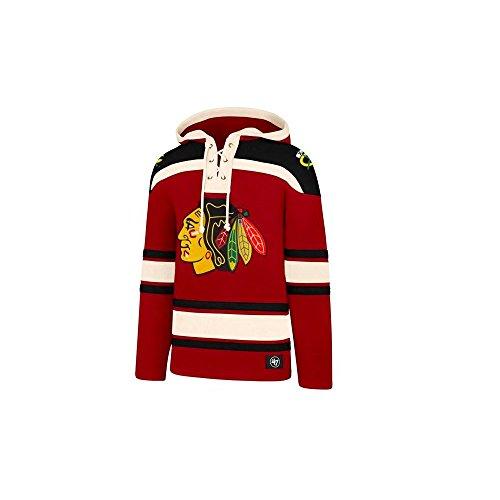 Chicago Blackhawks (47 Brand NHL Chicago Blackhawks Lacer Hoody Jersey Trickot Kapuzenpullover Forty Seven)
