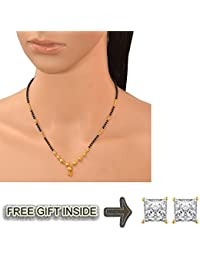 Pchalk Gold Plated Mangalsutra For Women