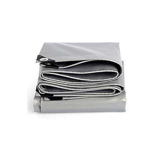 Uus LUYY Toile de bâche Polyvalente générale abri de Tente abri étanche Couverture résistant aux intempéries Forte renforcée Gris Poly Tarp -0.45mm-550g / m² YUBU (Couleur : Silver, Taille : 4x8m)