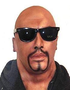 The Rubber Plantation TM 619219294027 - Máscara realista de cabeza completa para hombre con barba de cabra y gafas de látex, accesorio para disfraz de látex, adulto unisex, talla única
