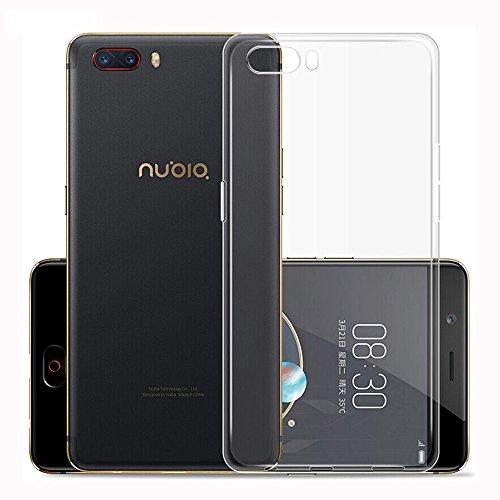 95Street Silikon Hülle für ZTE Nubia Z18 Mini, Ultra-Clear Handyhülle für ZTE Nubia Z18 Mini Soft TPU Crystal Clear Premium Schutzhülle Case Backcover Bumper Slim Case für ZTE Nubia Z18 Mini