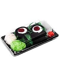 Sushi Socks Box 1 par de CALCETINES: Maki de Atún - REGALO DIVERTIDO, Algodón de alta Calidad para Mujer y Hombre: Tamaños 36-40 y 41-46, Certificado de OEKO-TEX, Fabricado en EU