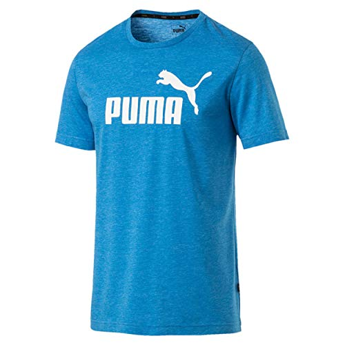 Puma Essential Heather Trainingsshirt Herren blau/weiß, S (44/46 EU)