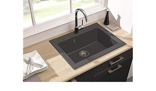 Respekta Lavandino Lavello Incasso Cucina Granito Lavello Cucina Mineralite 78 X 44 Bianco Vasca Singola Lavelli Da Cucina