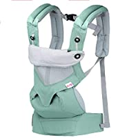Upgrow Baby Carrier Slings Safety Baby Front Back Carrier Infant Backpack Wrap Harness with Hood for Newborn Infants Toddlers (Aqua Green)