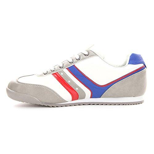 Solamode - Jungen Sneaker mit Schnürung - Rivaldi RB7 - Unisex - Grau - Achtung! Es ist äußerst empfohlen eine Größe über Ihre eigentliche Größe zu wählen. Grau
