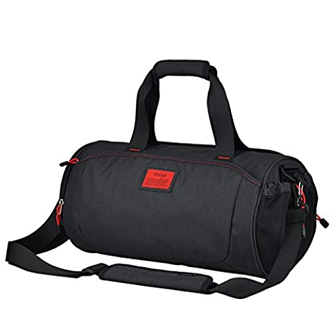 Cool NEW! MadMixi Duffel Style Carry On Sports Travel Bag/Gym Bag with Shoulder Strap, Zippered Compartments (Tuxedo Black,