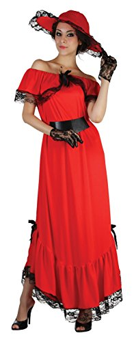 Ladies Scarlet O'Hara 1930s 30s Gone with The Wind Book Film Fancy Dress Costume Outfit 10-12-14 (UK 10-14) (Scarlet Ohara Kostüm)
