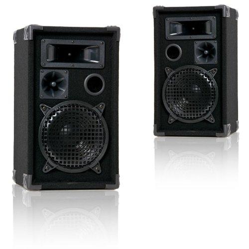 Ett 600 Watt PAAR 3-Wege Boxen PA-Lautsprecher DJ-Pro 8
