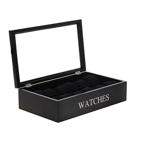 Uhrenbox Watches weiß Uhrenkoffer Uhrenkasten Uhrenschatulle Schmuckkasten Schaukasten