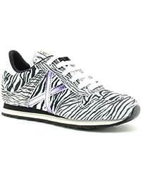 Zapatillas Munich zebra cordones material texil