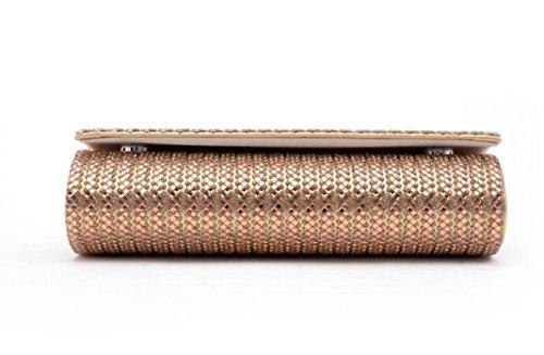 Damen Abendtasche Kristalldiamanten Diamant Wallet Glänzende Handtasche Bankett Gold
