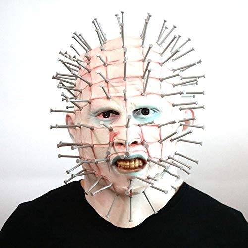 Werwölfe Kostüm Platz - LYzpf Halloween Maske Nadelnagel Grusel Gruselmaske Latex Full Face Requisiten Kopfbedeckung Für Erwachsene Alter Mann Cosplay