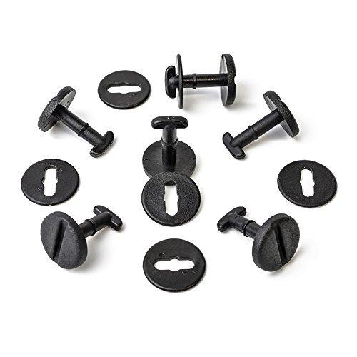 Fussmatten Clips Drehverschluss mit Sperre in Schwarz 10 Stück