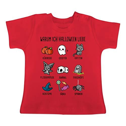 m ich Halloween Liebe - 18-24 Monate - Rot - BZ02 - Baby T-Shirt Kurzarm ()