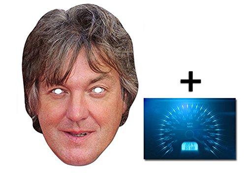 James May berühmtheit Single Karte Partei Gesichtsmasken (Maske) Enthält 6X4 (15X10Cm) (James May Kostüm)