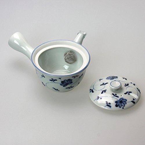 Grünteeset Hana Karakusa, japanisches Teeservice mit traditioneller Kannenform