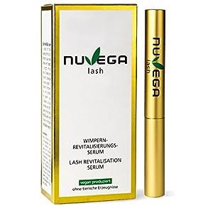 NuVega Lash Eyelash – Pestañas veganas y suero de cejas made in Germany – 3 ml