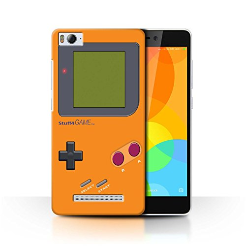 Stuff4 Hülle / Case für Xiaomi Mi 4i / Orange Muster / Videogamer/Gameboy Kollektion