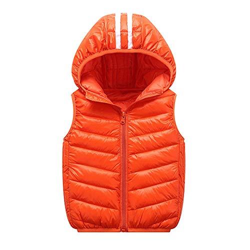 Kinder Mäntel Sunnydrain Kinder Jacken Reine Farbe Hoodie Gestreiften Unisex Winter Warm Herbst Kapuzen Outerwear Baumwolle Ärmellose