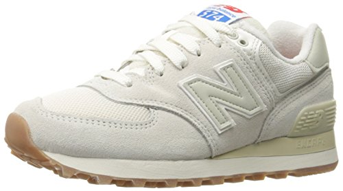 Powder Pack (New Balance  574 Retro Sport Pack Lifestyle, Damen Sneaker weiß Sea Salt/Powder)